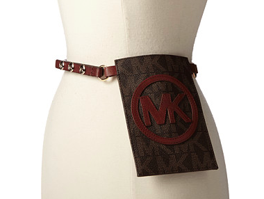 Michael kors pouch belt