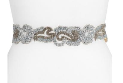 Glint beaded belt