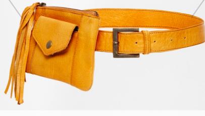 Asos fringe pouch belt
