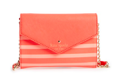 Kate Spade striped crossbody bag