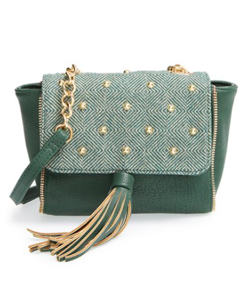 pretty ships 'Aberdeen' Studded Crossbody Bag