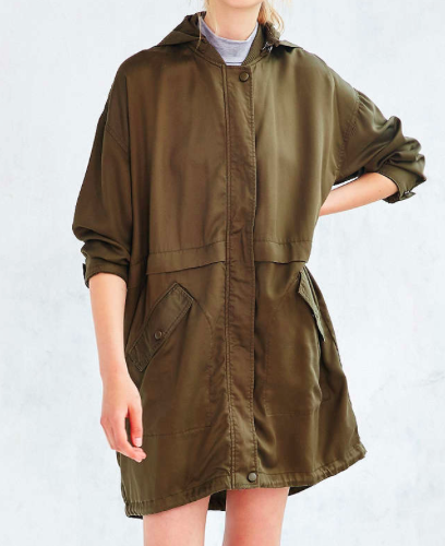Urban Outfitters green parka jacket