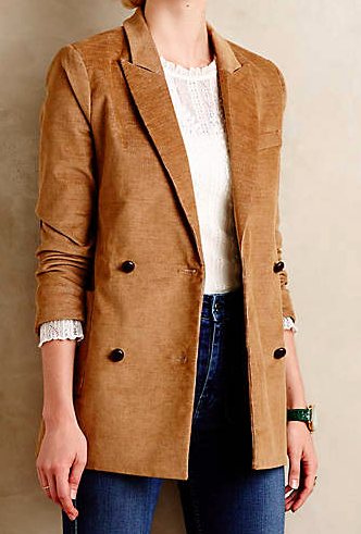 Anthropologie double breasted jacket