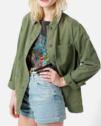 Topshop shirt jacket