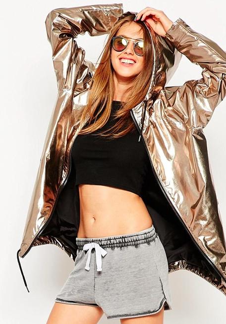 Asos metallic raincoat