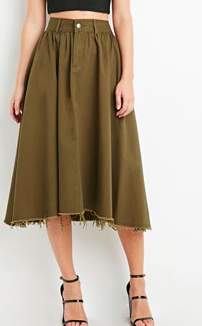 Forever 21 frayed midi skirt