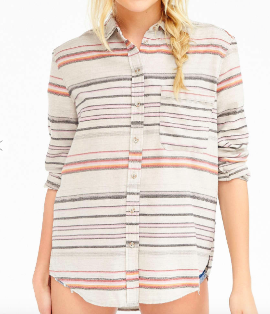 Urban Outfitters striped flannel shirt