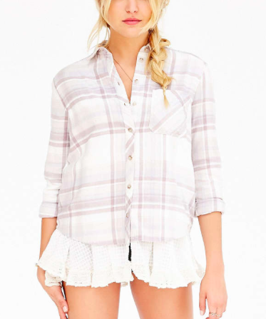 Urban Outfitters frill bottom flannel shirt