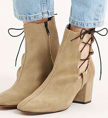 Topshop lace up booties