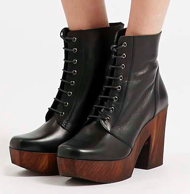 Topshop lace up clog booties
