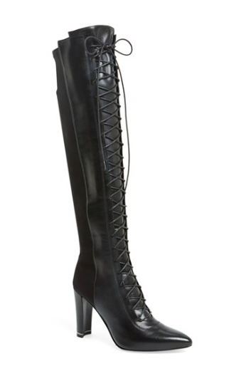 Stuart Weitzman tall lace up boots