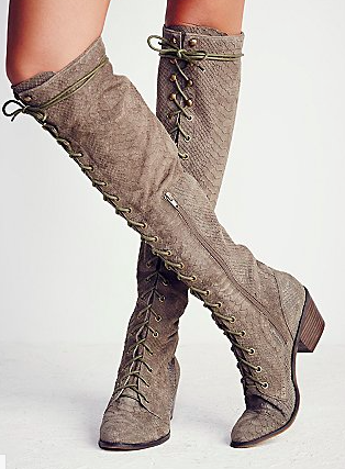 Free People tie up boots