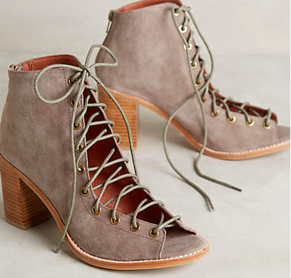 Anthropologie lace up booties