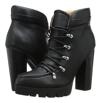 Report lace up heeled booties