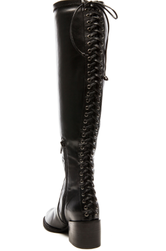 Revolve Clothing over the knee lace up boots