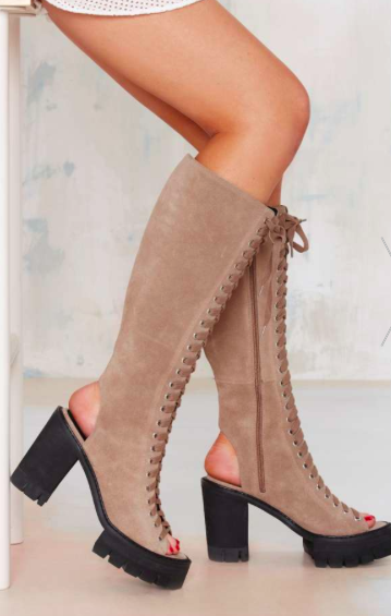 Nasty Gal tall lace up boots