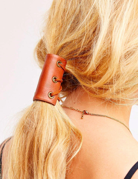 Urban Outfitters leather pony tail holder