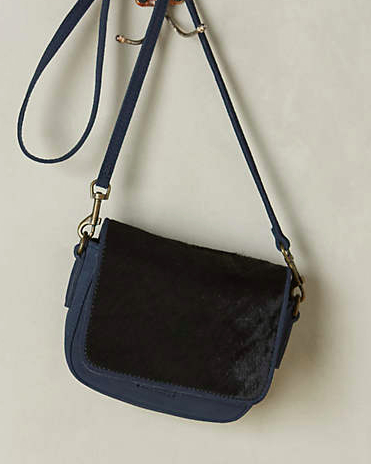 Anthropologie calf hair bag