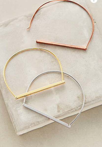Anthropologie thin bangles