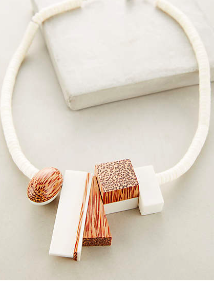 Anthropologie wood necklace