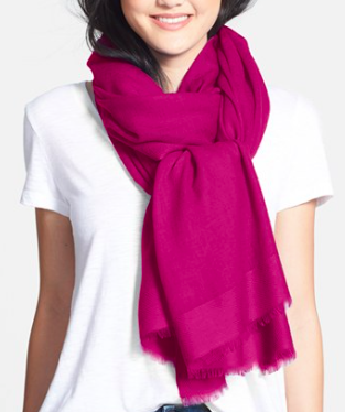 Nordstrom tissue weight wool and cashmere scarf