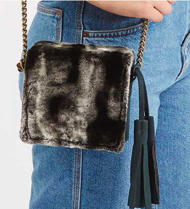 Topshop faux fur bag