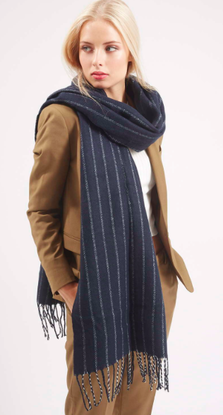 Topshop pinstripe scarf