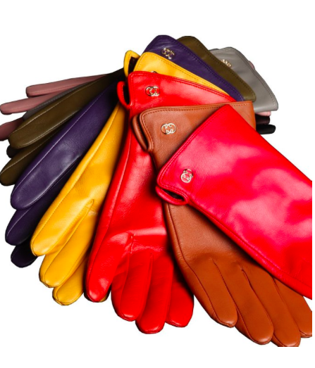 Warmen colorful leather gloves