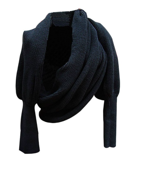 Leegoal knit wrap scarf