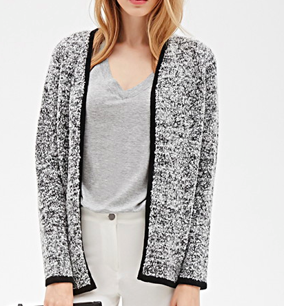 Forever 21 boucle knit cardigan