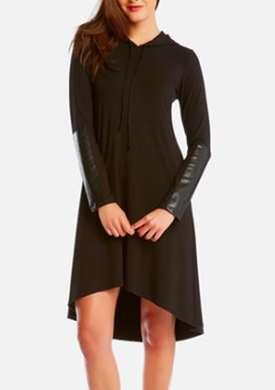 Karen Kane leather sleeve dress