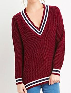 Forever 21 varsity knit sweater