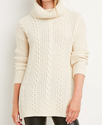 Forever 21 cable knit turtleneck