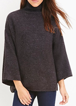 Forever 21 fuzzy turtleneck sweater