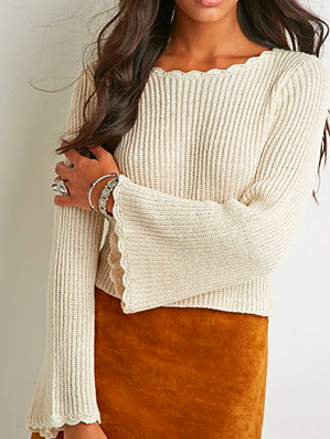 Forever 21 bell sleeve knit sweater