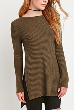 Forever 21 side slit knit sweater