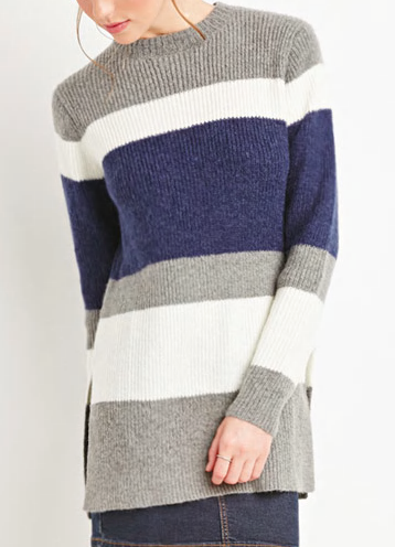 Forever 21 colorblock knit sweater