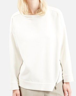 Topshop zip knit sweater