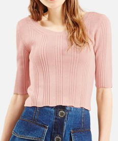 Topshop cropped knit sweater