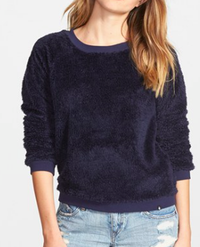 Volcom furry knit sweater