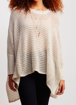 Aeropostale poncho knit sweater