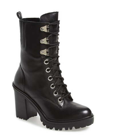 Guess mid lace up boot