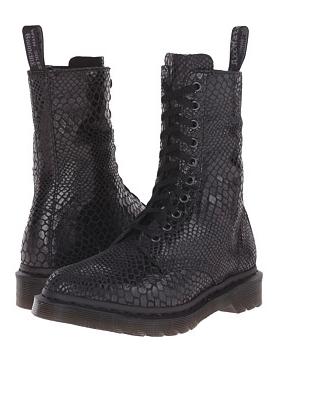 Dr. Martens snakeskin boots