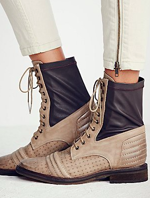Free People lace up midi boot