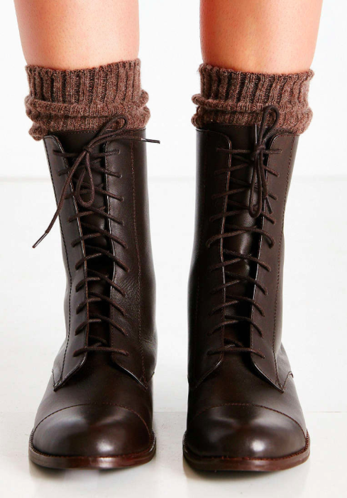 Louis midi lace up boot