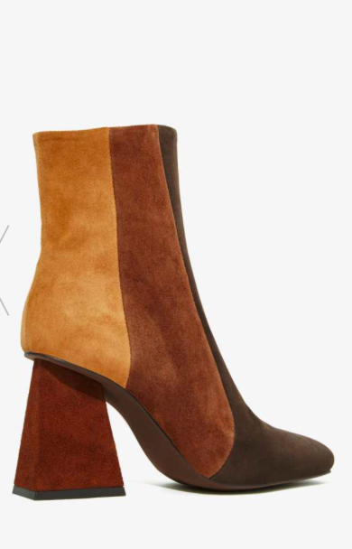 Jeffrey Campbell midi colorblock boots
