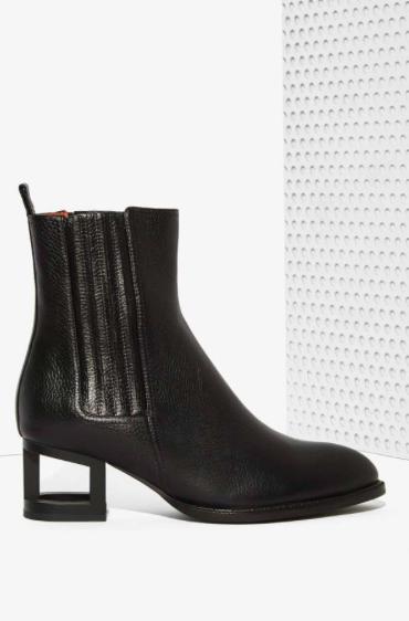 Jeffrey Campbell block heel midi boots