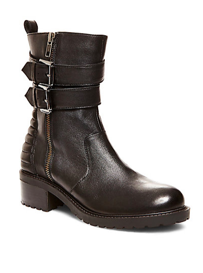 Steve Madden mid buckle boots