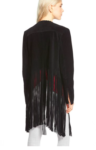 Sam Edelman fringe suede jacket