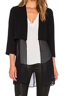 BCBG lightweight long jacket